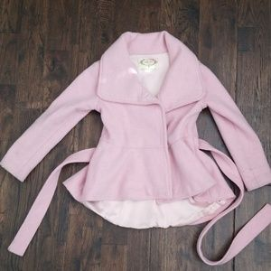 Joyfolie size 4 Blush Pink Wool Peacoat HiLow